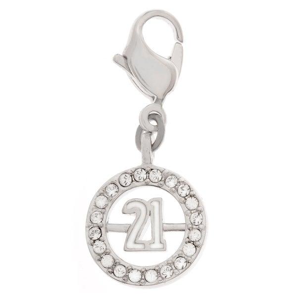 Swarovski Crystal Open Circle '21' Charm