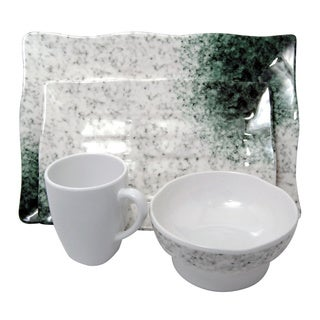 Marble Melamine 4-piece Dinner set