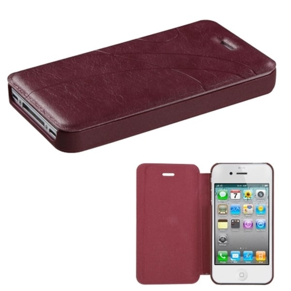 INSTEN Brown Book-Style Phone Case Cover for Apple iPhone 4/ 4S