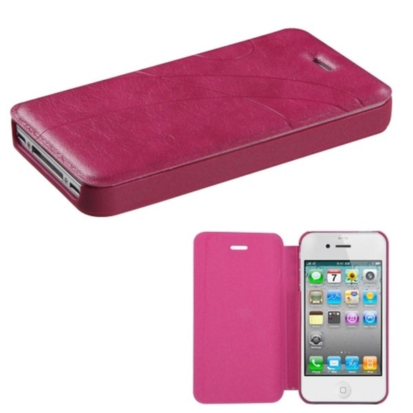 INSTEN Pink Book-Style Phone Case Cover for Apple iPhone 4/ 4S