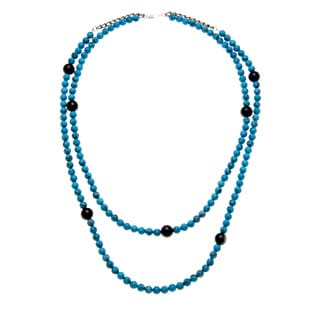 Karla Patin Turquoise and Black Necklace
