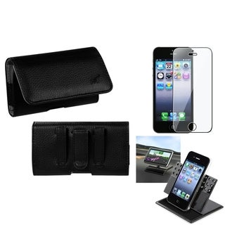 INSTEN Car Dashboard Holder/ Textured Pouch for Apple iPhone 5 / 5S / 5C / SE