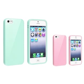 INSTEN 2-piece set TPU Phone Case for Apple iPhone 5/ 5S/ 5C/ SE