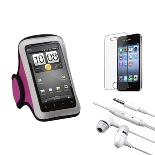 INSTEN Armband Phone Case Cover/ Screen Protector/ Headset for Apple iPhone 4/ 4S