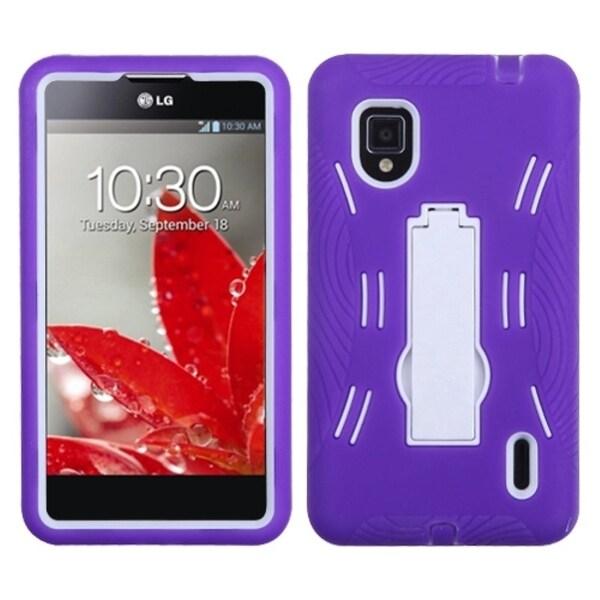 BasAcc Purple/ White Armor Hybrid Case for LG LS970 Optimus G