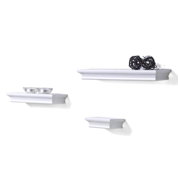 Classic White Accent Ledge Shelves (Set of 3)