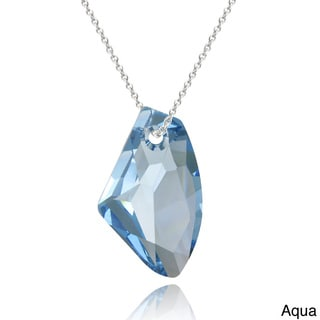 Crystal Ice Sterling Silver Free-form Crystal Necklace
