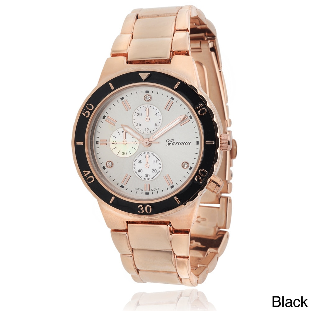 Geneva Women's Polished Color Pop Link Watch, Silver, Siz...