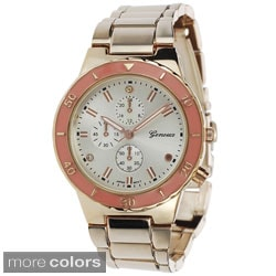 Geneva Platinum Women's Polished Color Pop Link Watch