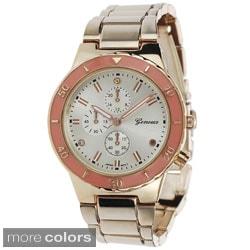 Geneva Platinum Women's Polished Color Pop Link Watch (Option: Purple)