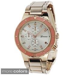 Geneva Platinum Women's Polished Color Pop Link Watch