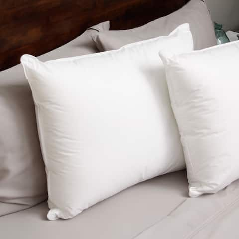 Hotel Madison 230 Thread Count Pillow in a Pillow Density Down Alternative Pillow (Set of 2)