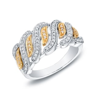 Auriya 14k Two-tone Gold 1/3ct TDW Diamond Ring