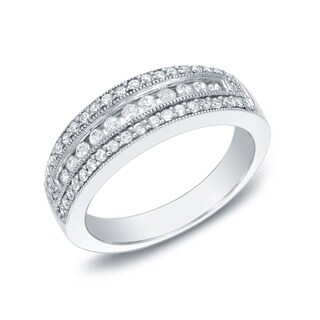 Auriya 14k White Gold 1/2ct TDW Diamond Ring