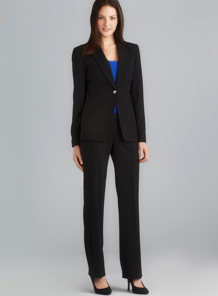 Calvin Klein One Button Shawl Collar Pant Suit
