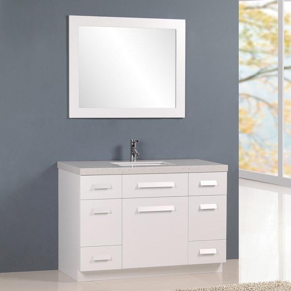 Shop design element moscony 48 single sink vanity in - 48 in single sink bathroom vanity ...