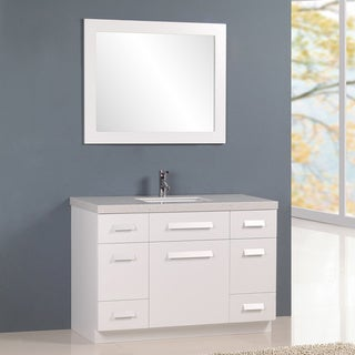 "Design Element Moscony 48"" Single Sink Vanity in White"
