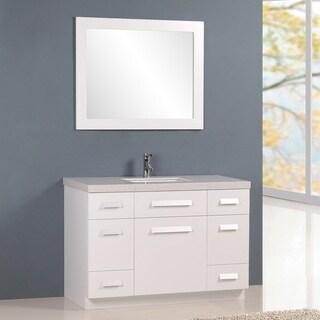 "Design Element Moscony 48"" Single Sink Vanity in White"