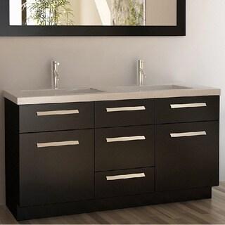 Design Element Moscony Espresso 60-inch Double Sink Vanity Set