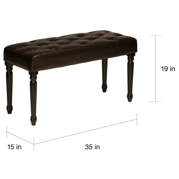 Miraculous Shop Cortesi Home Franz Tufted Dark Wood Piano Bench Free Creativecarmelina Interior Chair Design Creativecarmelinacom