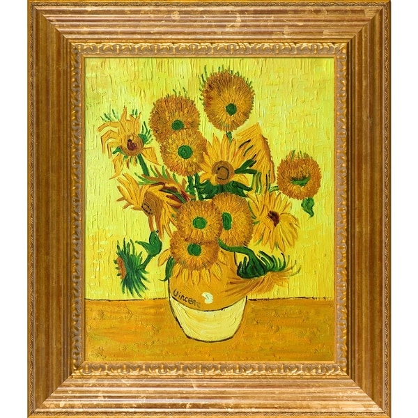 Shop Vincent Van Gogh Vase With Fifteen Sunflowers Hand Painted