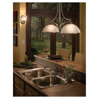 Sea Gull Lighting 2-light Antique Brushed Nickel Island Pendant