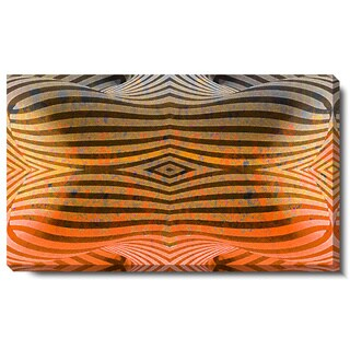 Studio Works Modern 'Rio Bio Bio - Orange' Gallery Wrapped Canvas