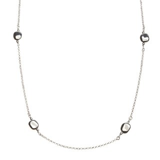 La Preciosa Sterling Silver 24-inch Station Necklace