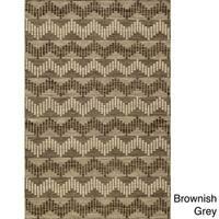 Momeni Mesa Grey Hand-Woven Wool Reversible Rug (5' X 8') - 5' x 8'