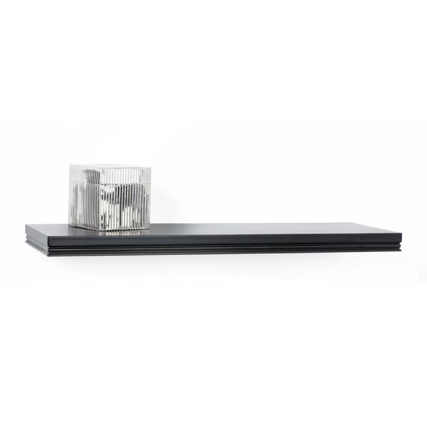 Classic Black Decorative Wall Mount Floating 24 inch Shelf
