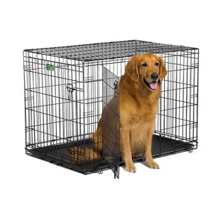 Shop Midwest ICrate Double Door Dog Crate With Divider   Free Shipping On  Orders Over $45   Overstock.com   8312844