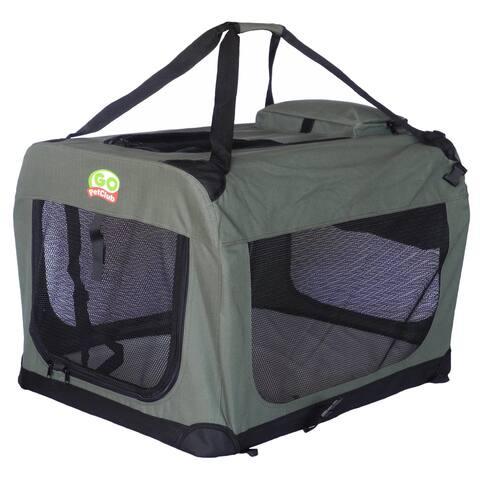 Go Pet Club Sage Color Soft Crate