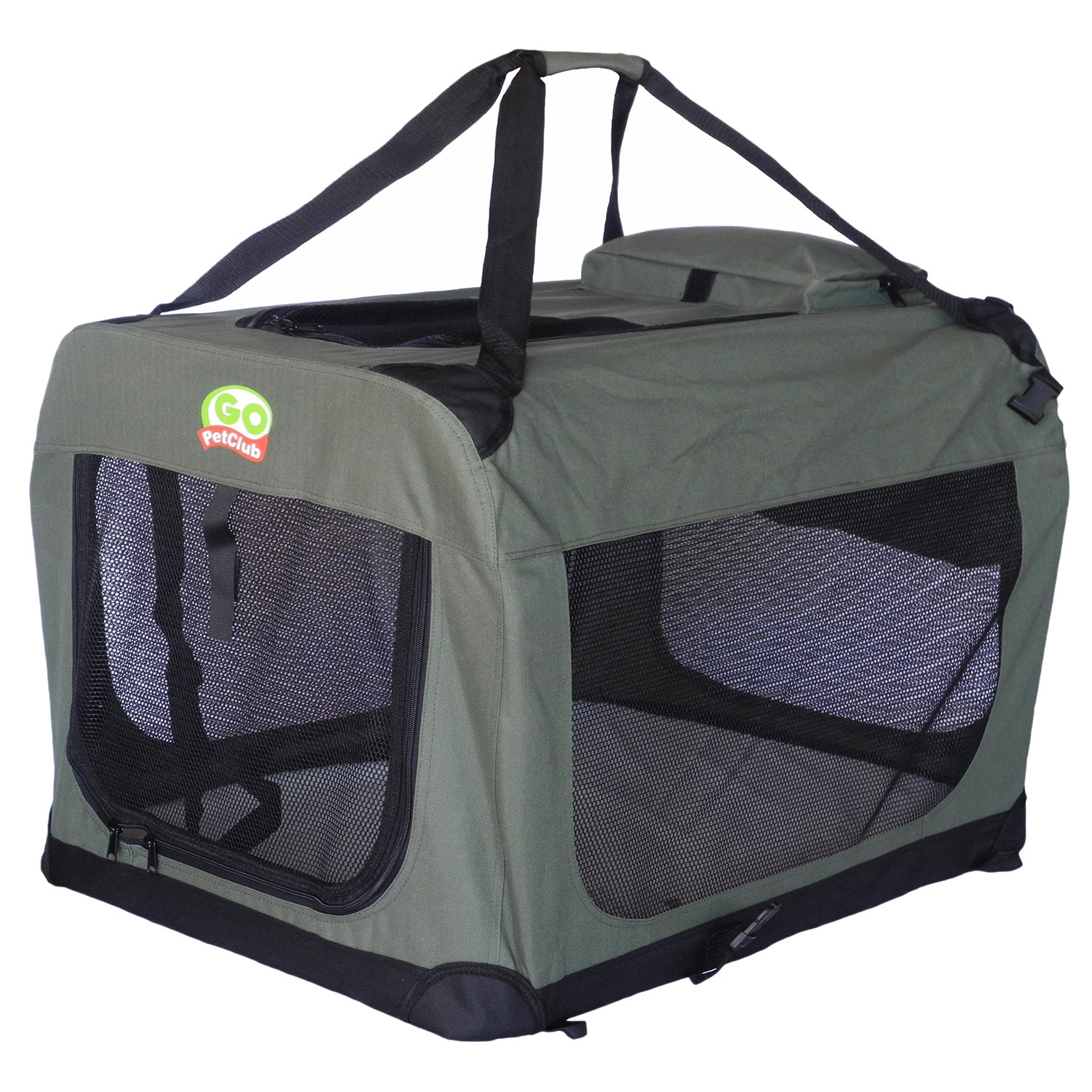 GoPetClub Sage (Green) Color Soft Crate (32''), Size 32''