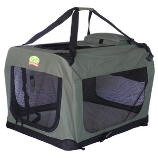 Go Pet Club Sage Metal/Nylon Soft Crate