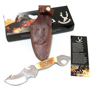 The Bone Edge Stainless Steel 8.5-inch Hook Blade Skinner Hunting Knife