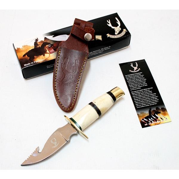 The Bone Edge Stainless Steel 9-inch Hook Blade Skinner Hunting Knife