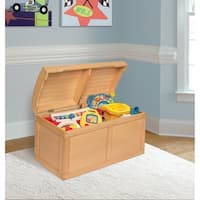 Natural Barrel Top Toy Chest - N/A
