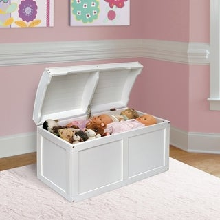 white barrel top toy chest