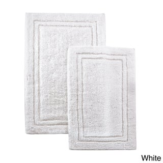 Superior Luxurious Combed Cotton Non-skid Bath Rug Set (Set of 2) (2 options available)