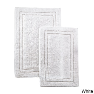 Superior Luxurious Cotton Non-skid 2-piece Bath Rug Set