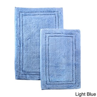 Superior Luxurious Combed Cotton Non-skid Bath Rug Set (Set of 2) (More options available)