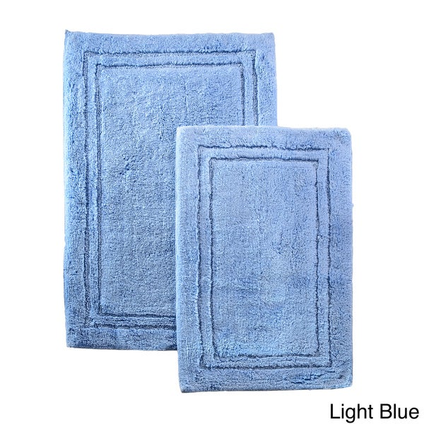 Superior Luxurious Combed Cotton Non Skid Bath Rug Set (Set Of 2)   Free  Shipping On Orders Over $45   Overstock.com   15628128
