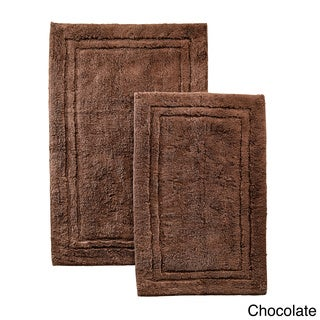 Superior Luxurious Cotton Non skid 2 piece Bath Rug Set. Brown Bathroom Rugs   Shop The Best Deals For Apr 2017
