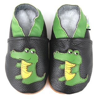 Alligator Soft Sole Leather Baby Shoes (3 options available)