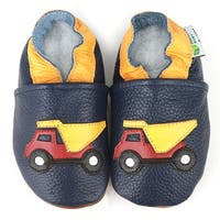 Dump Truck Soft Sole Leather Baby Shoes