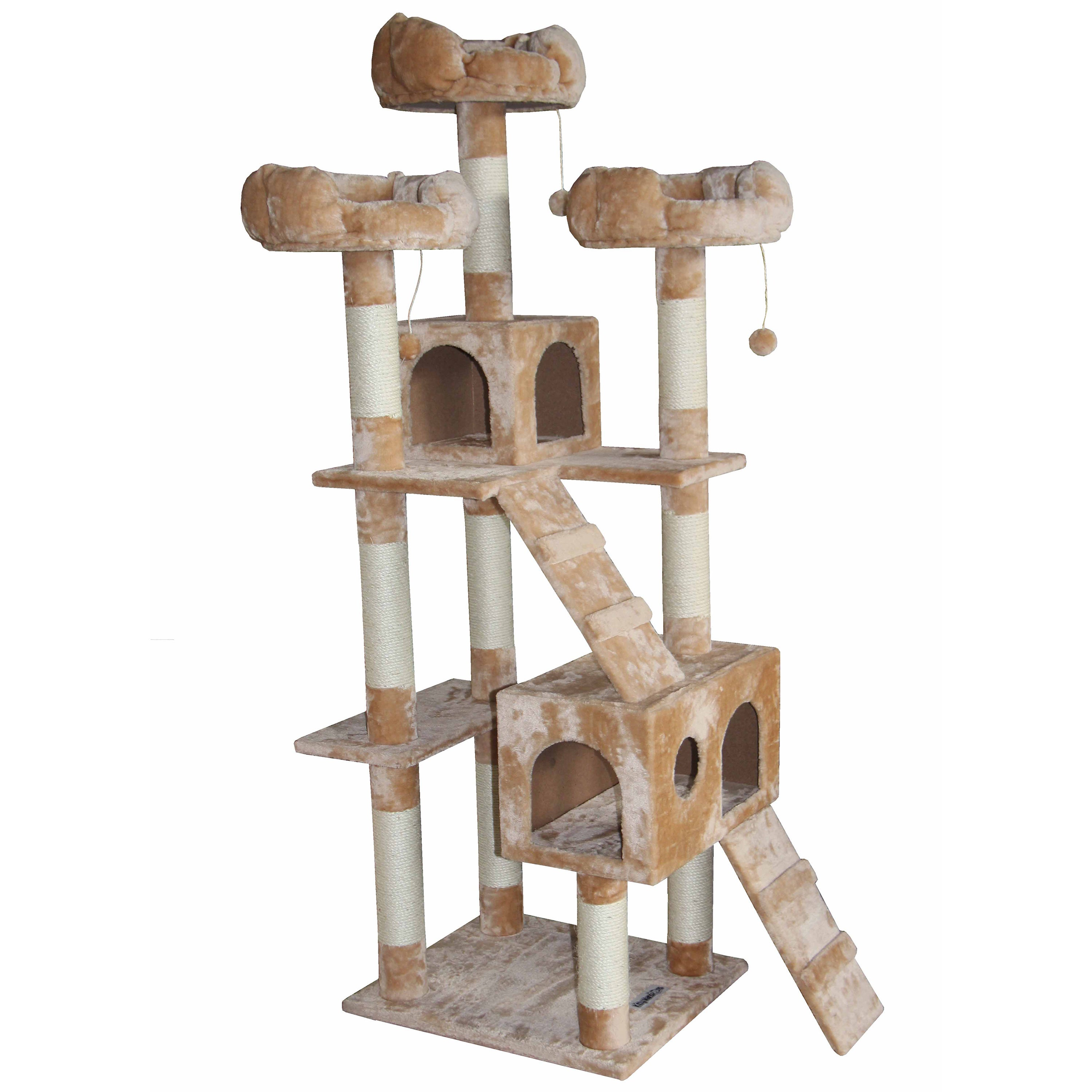 Kitty Mansions Bel-Air Cat Tree Furniture (Beige)