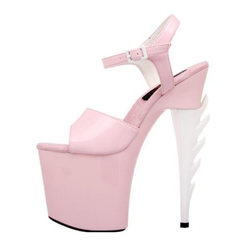Women's Highest Heel Inferno-21 Pink Patent Polyurethane