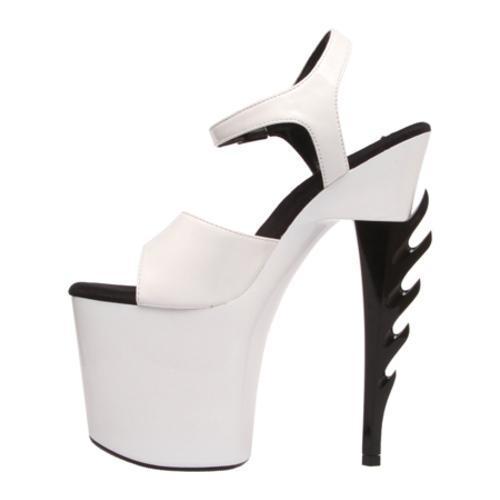 Women's Highest Heel Inferno-21 White Patent Polyurethane - Thumbnail 2