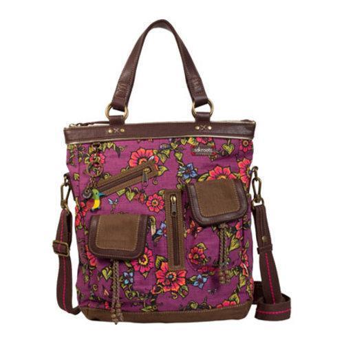 Women's Sakroots Artist Circle Utility Bag Berry True Love