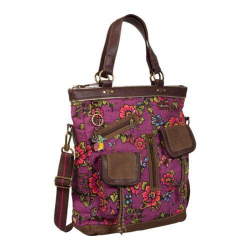 Women's Sakroots Artist Circle Utility Bag Berry True Love - Thumbnail 2